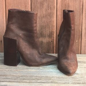 Acne Brown Leather Block Boot size 37